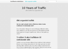 10yearsoftraffic.com