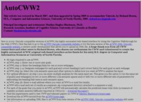 autocww.colorado.edu