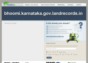 bhoomi.karnataka.gov.landrecords.in