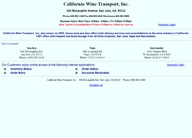 californiawinetransport.com