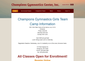 championsgymnasticscenter.net