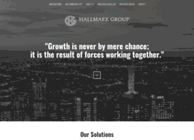 hallmark group The hallmark group – we are a boutique asset management firm that delivers above-market returns for corporate and private clients.