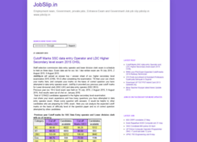 jobslip.in