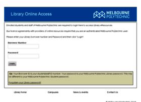 libproxy.melbournepolytechnic.edu.au