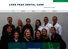 lonepeakdentalcare.com