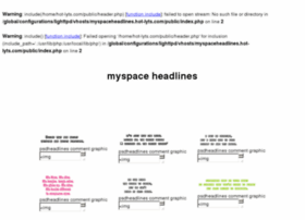 myspaceheadlines.hot-lyts.com