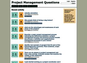 projectmanagementquestions.com