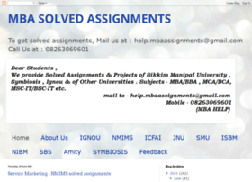 smu solved assignments Smu - sikkim manipal university solved assignments for smu bba we have a team of expert professionals to prepare assignments, sample question papers, question bank and projects.