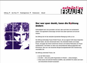 stiftung-aufmuepfige-frauen.de