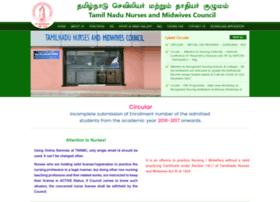 tamilnadunursingcouncil.com