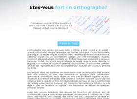 test-orthographe.com