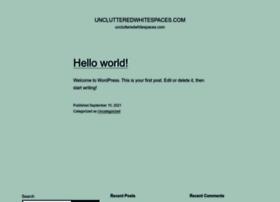 unclutteredwhitespaces.com