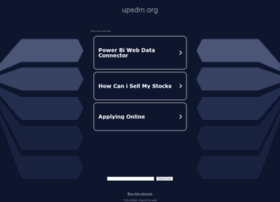 upsdm.org